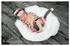 GOTTS HAVE IT Baby GIRL Sock Monkey hat diaper cover and by TrebleStitchBoutique, $35.00
