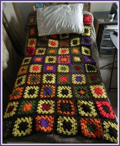 Crochet Patterns for the beginner or the advanced: My Grandmother's Granny Square Blanket