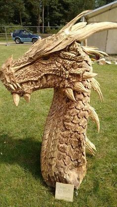 Dragon Carved Wood