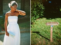 Wow. Simple and pretty.     Philadelphia Garden Wedding: Lindsay + Anthony