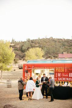 Food Trucks - the new darling of the wedding reception #truck Photography: Steve Steinhardt Photography - stevesteinhardt.com Day Of Coordination: Avante Events - avanteevents.com/ Read More: http://www.stylemepretty.com/2013/05/20/figueroa-mountain-farmhouse-wedding-from-steve-steinhardt/