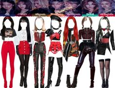 Korean Outfits Kpop, Kpop Fashion Outfits, Stage Outfits, Dance Outfits, Girl Outfits, Black Girl Groups, Cl Fashion, Black And White Girl, Weekly Outfits