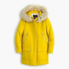 Jcrew parka in marigold yellow