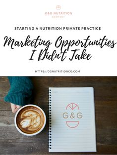 Tips for starting a registered dietitian nutrition private practice: 3 marketing opportunities that I passed up on in my first year of having a nutrition private practice. This also includes some things that you can do instead.