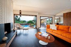 Décorations salons en orange et blanc ~ Décoration Salon / Décor de Salon