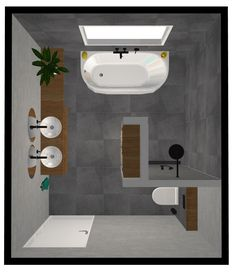 Bad Ideen Grundriss 12 m 2 12 m 2 Bad Boden Ideen Plan Bathroom ideas floor plan 12 m 2 12 m 2 bathroom floor ideas plan Ideen Bathroom Layout, Bathroom Interior, Modern Bathroom, Master Bathroom, Bathroom Ideas, Bathroom Designs, Small Bathrooms, Dream Bathrooms, Bathroom Storage