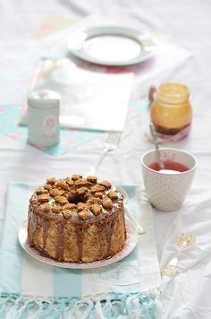 ¡Qué cosa tan dulce!: Ángel food cake de galletas speculoos