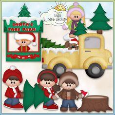 Christmas Village: Santa's Tree Farm 1 - NE KWD Clip Art : Digi Web Studio, Clip Art, Printable Crafts & Digital Scrapbooking!