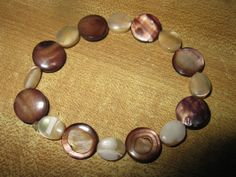 Mother of pearl bracelet by las81101 on Etsy, $10.00