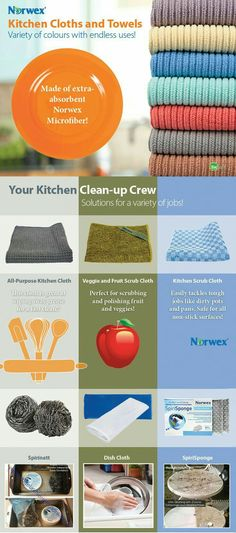 norwex kitchen cloths - which one to use? | norwex | pinterest