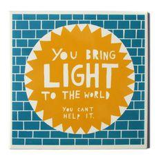 You Bring Light To The World , Ceramic Tile. $38.00, via Etsy.