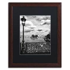 "Trademark Art ""Pont des Arts Paris"" by Philippe Hugonnard Framed Photographic Print Size:"