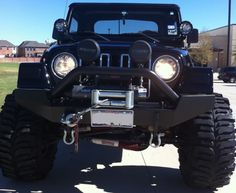bogger tires make a good look for a jeep