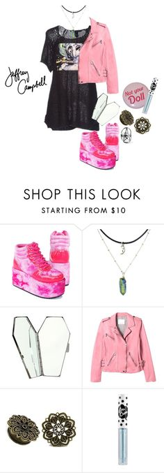 """""""Abra"""" by applecocaine ❤ liked on Polyvore featuring Lime Crime and Jeffrey Campbell"""