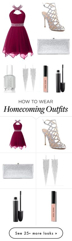 """""""Prom #2"""" by annabellabeautiful on Polyvore featuring Schutz, Kenneth Jay Lane, Essie, Jimmy Choo, Bobbi Brown Cosmetics and MAC Cosmetics"""