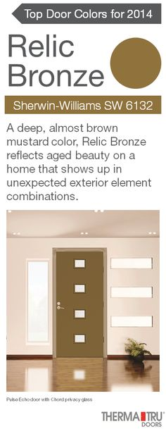 Painting your front door a vibrant color   like Relic Bronze   adds energy  and curbClassic Craft Canvas Collection fiberglass door painted Amazon  . Front Door Color Trends 2014. Home Design Ideas