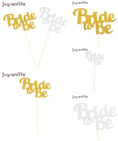 [Visit to Buy] JOY-ENLIFE 1pcs Glitter Bride To Be Cake Cupcake Topper Wedding Decor Hen Night Party Bachelorette Party Bridal Shower Supplies #Advertisement