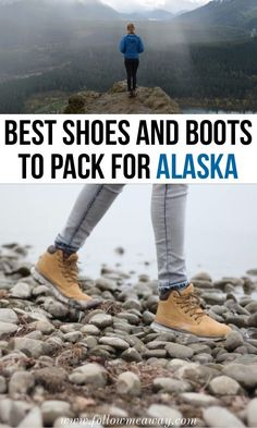 Searching for the best boots for Alaska? These are our tried and true suggestions for the best shoes to Alaska so your feet stay warm and dry on your trip! Packing For Alaska, Alaska Cruise Tips, Packing List For Vacation, Packing For A Cruise, Alaska Travel, Cruise Travel, Alaska Trip, Packing Tips, Vacation Ideas