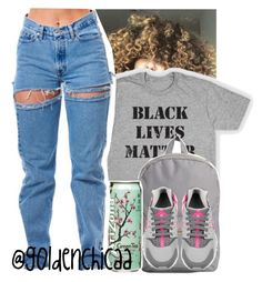 """""""#blacklivesmatter"""" by g0ldenchicaa ❤ liked on Polyvore featuring Herschel Supply Co. and NIKE"""