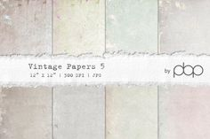 Vintage Paper Textures by pixelbypixel on @creativemarket