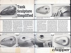 Motorcycle Gas Tank Sculpture Simplified | Vintage Tech