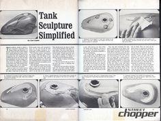 Motorcycle Gas Tank Sculpture Simplified | Vintage Tech