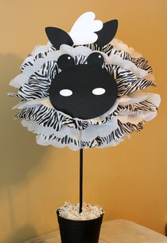 Zebra pom pom kit king of the jungle safari by TheShowerPlanner