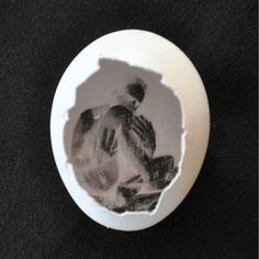 Pinhole camera egg with emulsion in the egg shell. Wow!