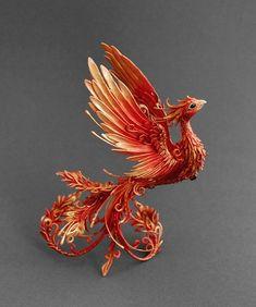 Firebird Skulptur Phönix Skulptur Phönix Figürchen Von MyOwnDragon