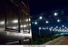 #door #lights #wedding #night #photography #reception @My Photo Couture