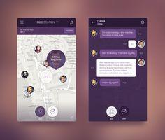 iOS 8 Geolocation App by Konstantin Vorontsov: Web Design, App Ui Design, User Interface Design, Mobile App Design, Mobile App Ui, Mobile Mobile, App Design Inspiration, Daily Inspiration, Ipad