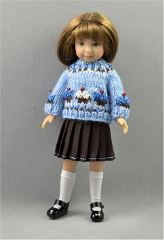 Heartstring Doll's Blueberry Cupcake Sweater & Skirt Set created by Jo's Doll Shoppe.