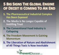 The lies, deceit, fear-mongering and illusions portrayed by elite controlling entities of the world are slowly crumbling right in front of their eyes as the world is awakening. Here are 5 signs that the era of deception and duplicity is coming to an end. By Guest Writer Marco Torres