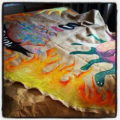 Cape de demoni by leeloocorner sitges  catalulnya #Leeloocorner #leeloocorner #capademoni #cap #demonis #cataluña #catalunya #festes major      #fiesta mayor #sant pere de ribes #sant pedro de ribas #handmadewithlove #handmade #followme #follow me please #painted #homemade