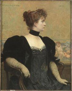 'Portrait of Madame Flameng' by François Flameng, 1893