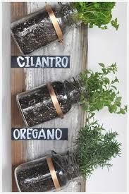 Grow your own herbs in your homemade jar wall decor. Perfect to hang in the kitchen. It's all about bringing the garden to you. #modernliving #inthegarden