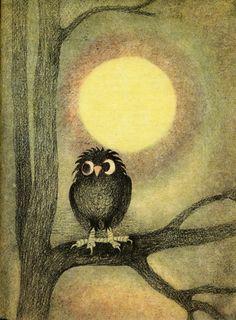 William Mayne: A Grass Rope Czech edition. Prague Illustrated by Ota Janeček. Owl Clip Art, Owl Art, Bird Art, Art And Illustration, Woodland Art, Fantastic Art, Beauty Art, Decoupage, Artsy