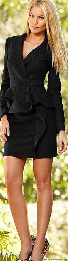 Venus   Grey Ruffle Jacket & Skirt