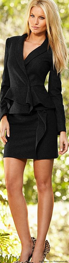 Venus | Grey Ruffle Jacket & Skirt