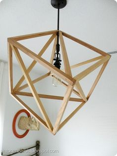 DIY geometric pendant