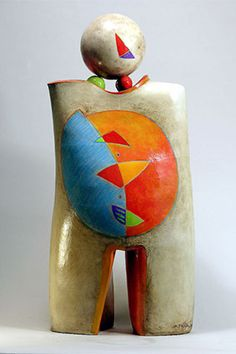 Mary-Ann Prack, Heads Will Turn Ceramic with mixed media
