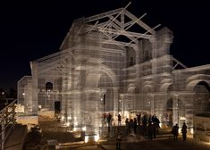 Edoardo Tresoldi uses wire mesh to rebuild ancient church