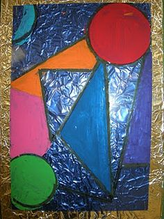 4th Grade - Frank Lloyd Wright Stained Glass