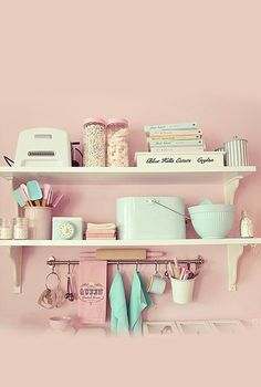 So.I am planning on making my kitchen pink .Very 50s ,playful look i am going for .Also needs to be super cute !And this is super cute and