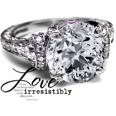 Large Vintage Engagement Ring