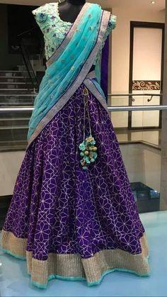 Lehenga Choli Latest, Half Saree Lehenga, Bridal Lehenga, Saree Blouse, Sarees, Half Saree Designs, Lehenga Designs, Pakistani Outfits, Pakistani Clothing