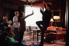 Ian and Kat setting up a scene. Wonder what's happening here