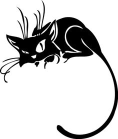 Cartoon of Black cat with head turned to its extreme right vector clip art image number Image formats available GIF, JPG, PNG and printable EPS, SVG. Cat Signs, Royalty Free Clipart, Cat Silhouette, Animal Tattoos, Cat Tattoos, Tatoos, Pretty Cats, Pyrography, Cat Art