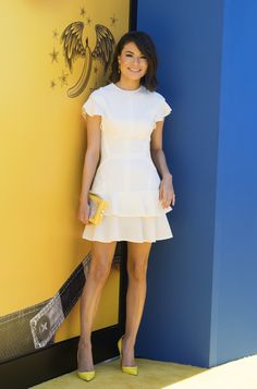 """Miranda Cosgrove Photos Photos - Actress Miranda Cosgrove attends the premiere of """"Despicable Me 3"""" on June 24, 2017 in Los Angeles, California. / AFP PHOTO / VALERIE MACON - Premiere of Universal Pictures and Illumination Entertainment's 'Despicable Me 3' - Arrivals"""