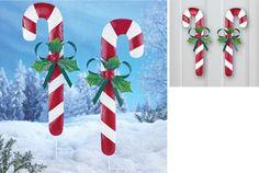 """31"""" Christmas Candy Cane Garden Stake"""
